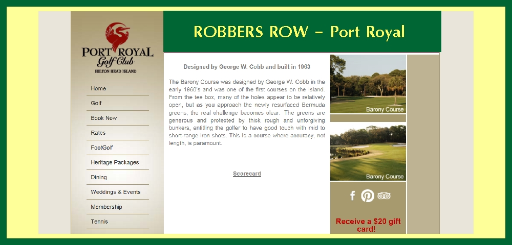 Robbers Row Golf Course
