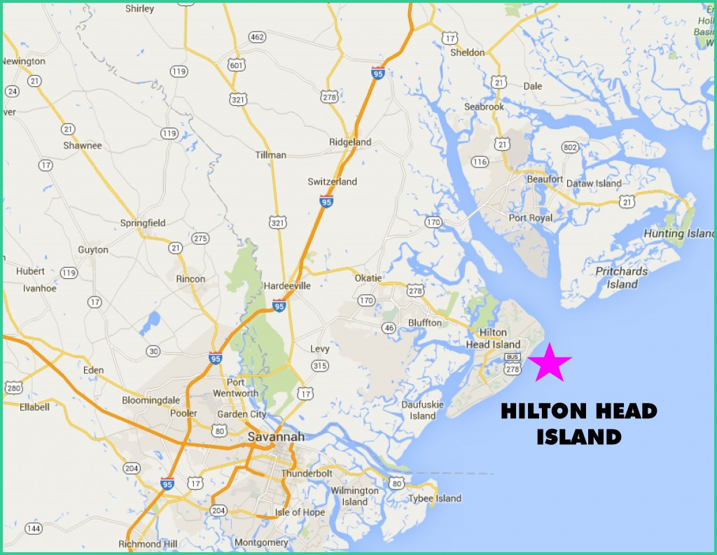 Hilton Head Area Map