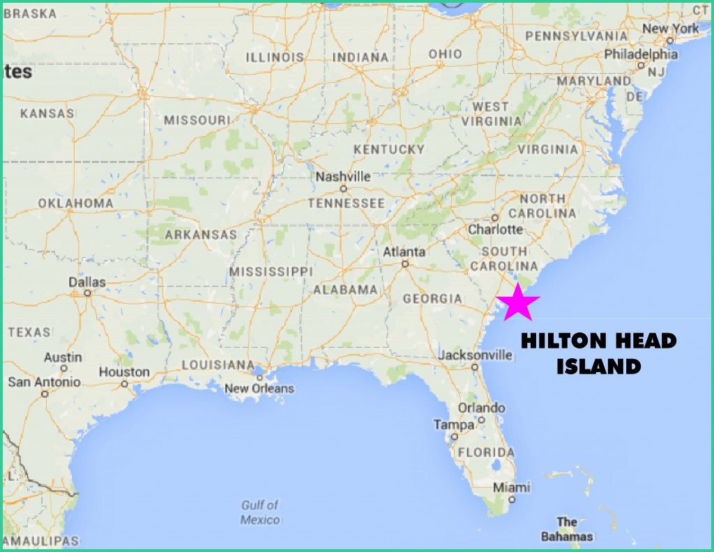US Hilton Head Map