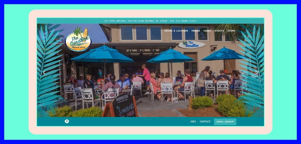 Sandbar Seafood Restaurant Outdoor Bar Hilton Head Chamber